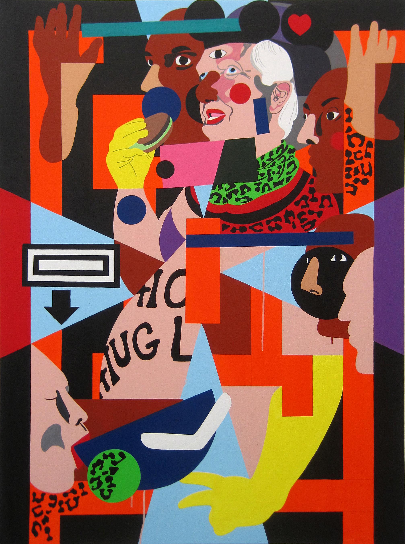 Nina Chanel Abney, Untitled, 2012