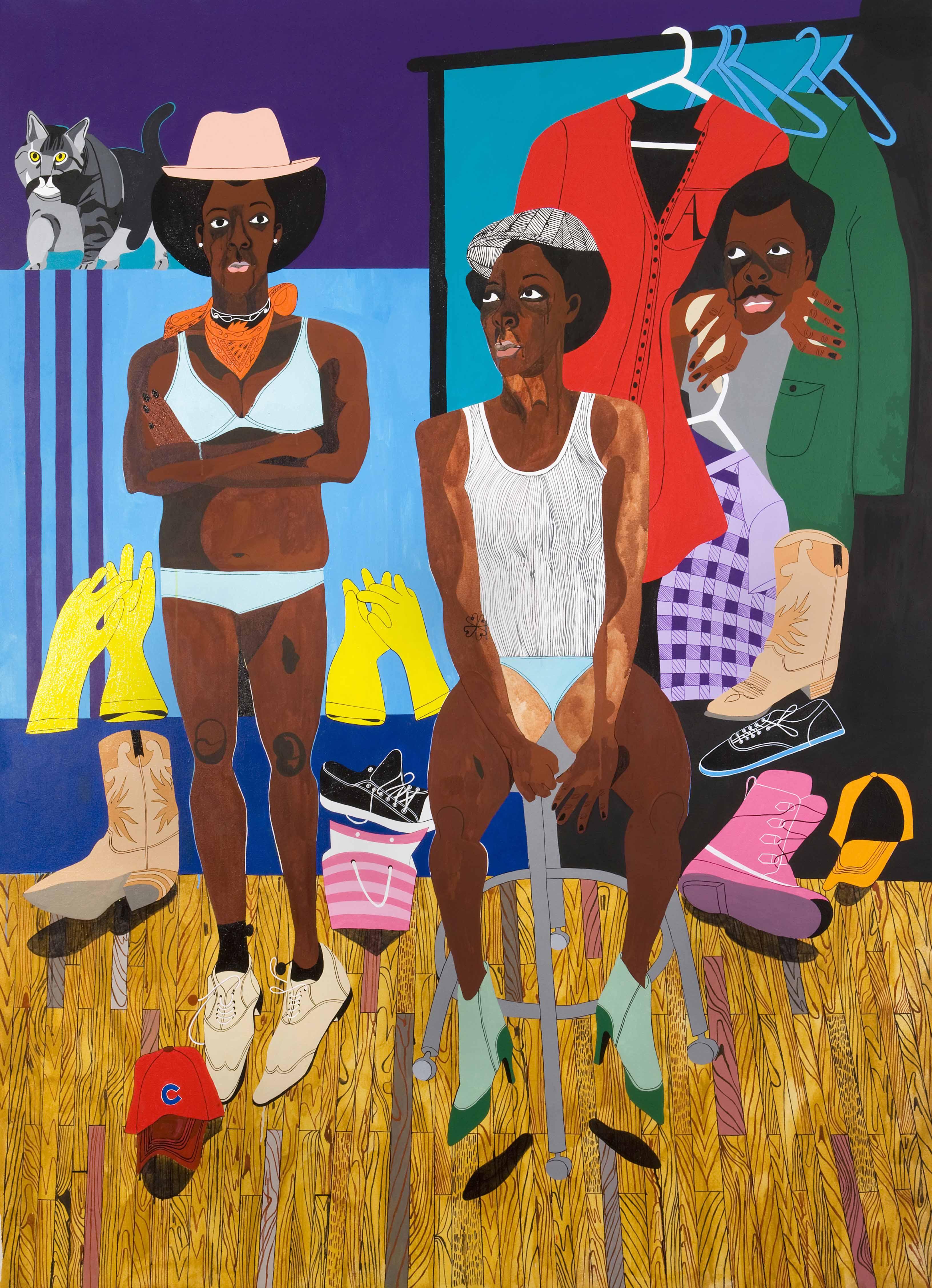 Nina Chanel Abney, The Escorts, 2008
