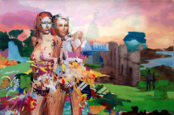 Two Nymphs with Flowers, 2013
