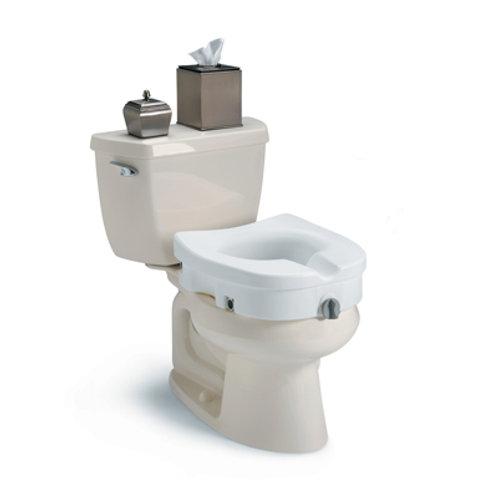 Invacare Clamp-On Raised Toilet Seat Without Arms