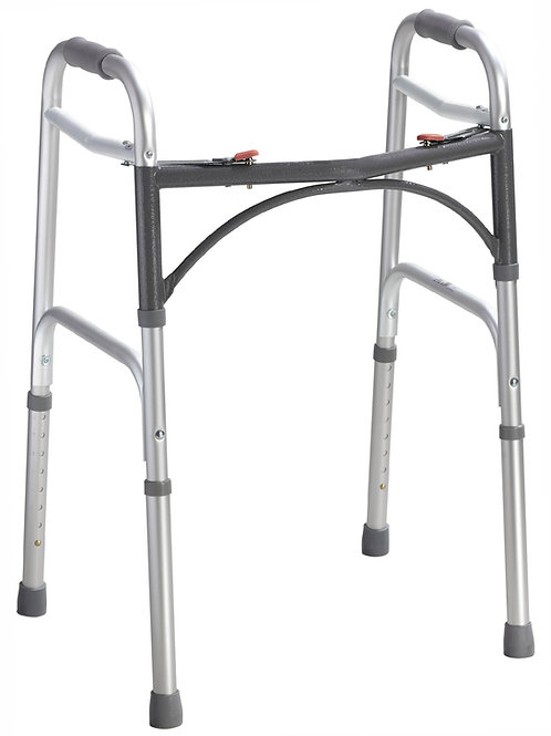Universal Deluxe Folding Walker, Two Button Without Wheels