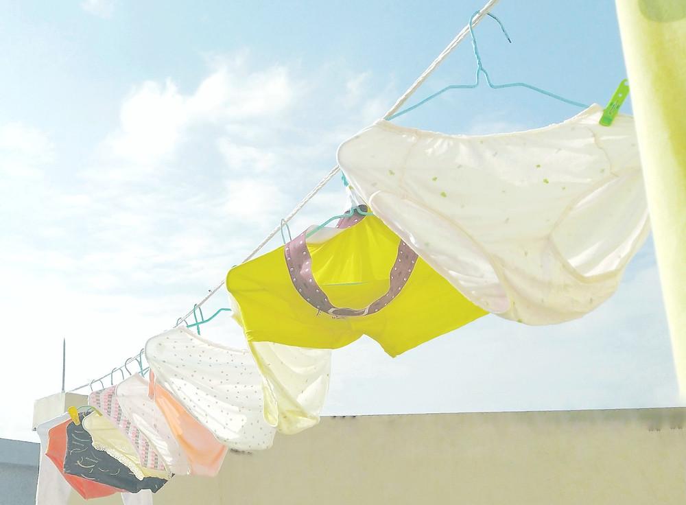 Cotton is often used in underwear