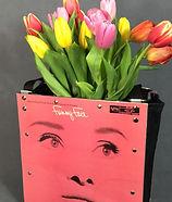 Audrey Hepburn Funny Face Tote as Home Decor Flower Vase