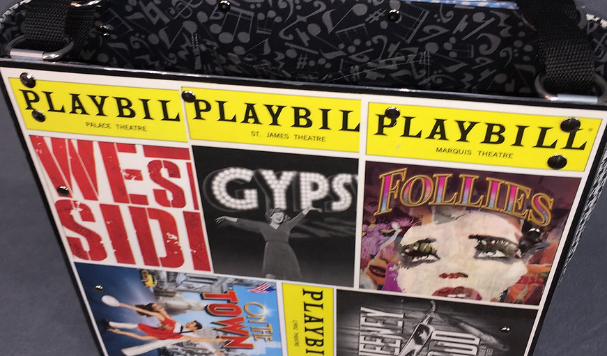 Sandy Tote with 12 Playbills