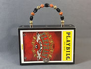 The Elephant Man full front Playbill handbag purse with beaded handle