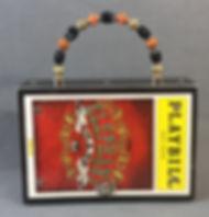 Playbill The Elephant Man full front handbag purse with beaded handle