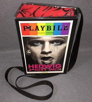 Playbill Hedwig and the Angry Inch full front handbag pursre with stra