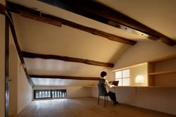 建築写真072_斜め格子の農家住宅-築150年の古民家の再生-