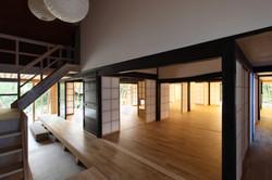 建築写真034_斜め格子の農家住宅-築150年の古民家の再生-