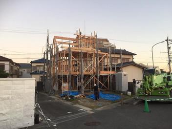 『海沿いの家』建前