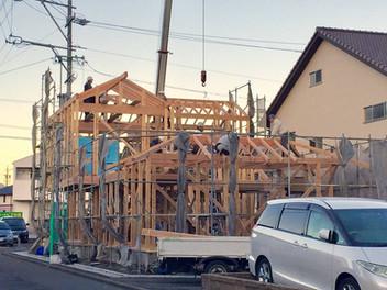 「静岡の家」上棟式