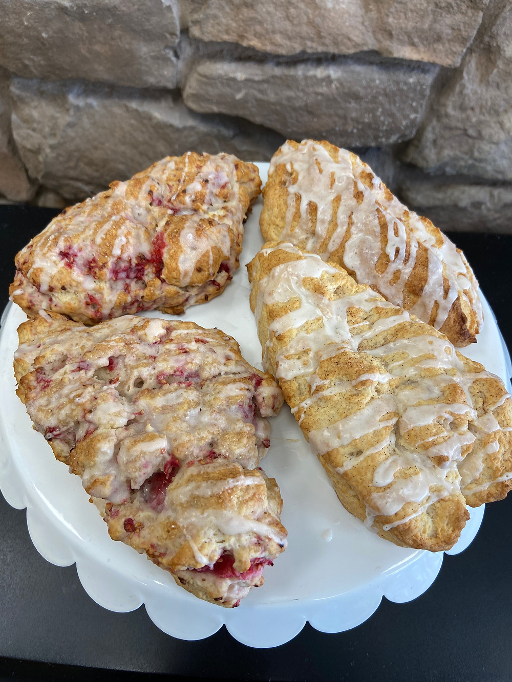A picture of cinnamon scones