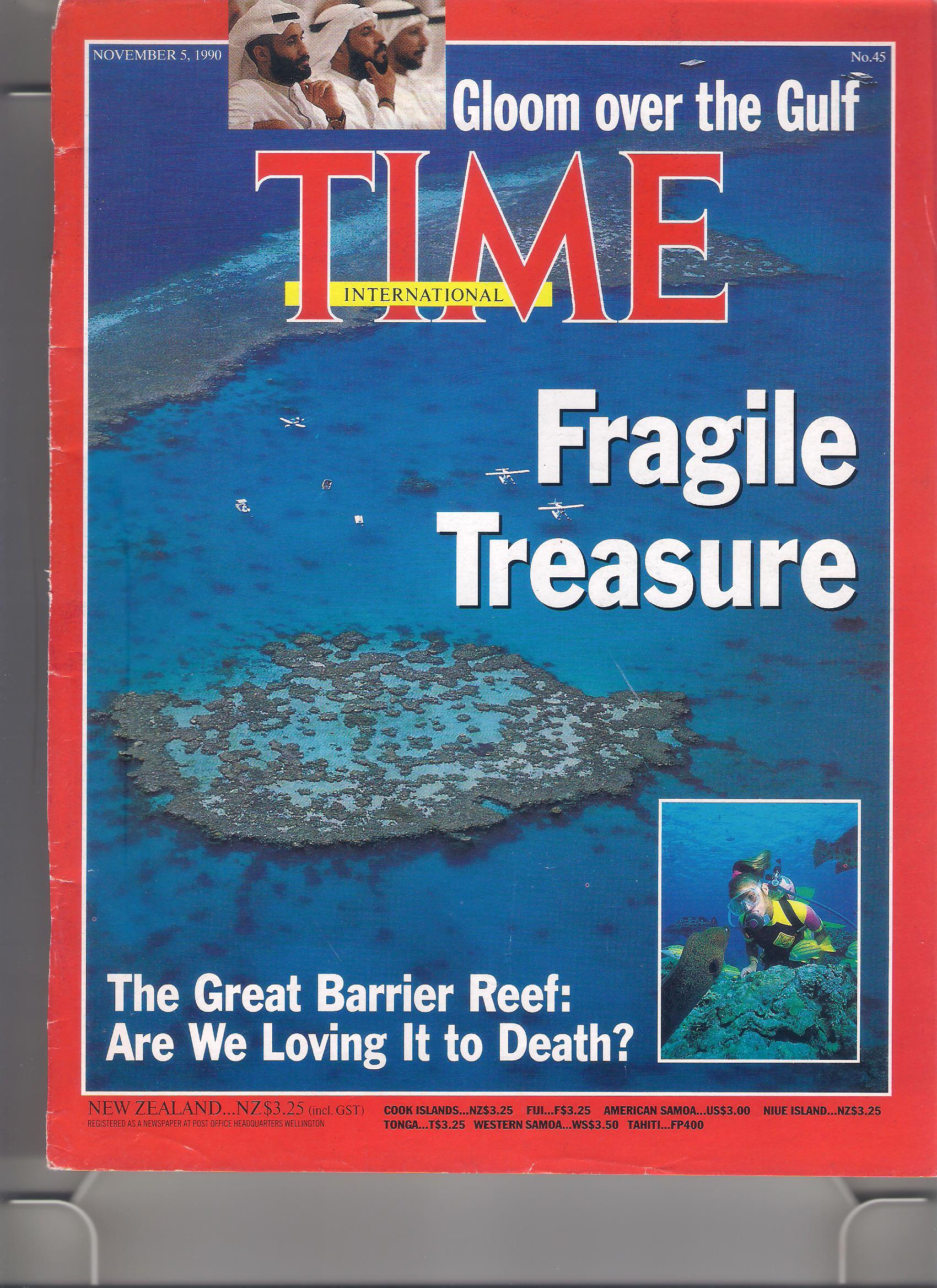 Time Cover Story on Barrier Reef