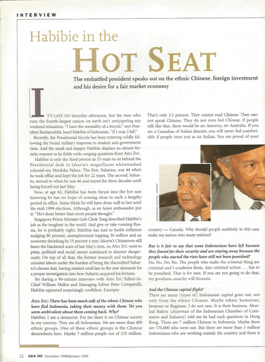 Habibie in the Hot Seat