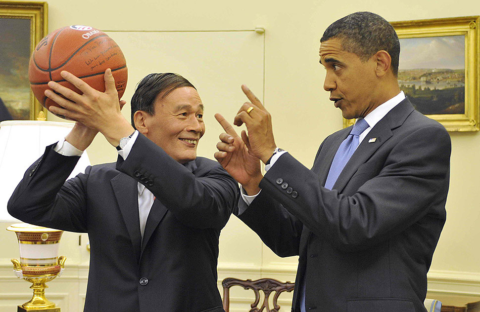 In 2009, when China's Yao Ming was a big name in U.S. basketball, Wang got a memento from President Barack Obama on a visit to Washington.