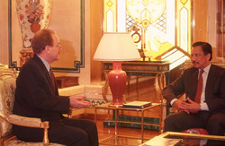 Interviewing the Sultan of Brunei