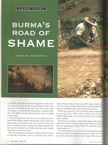 Burma's road of shame