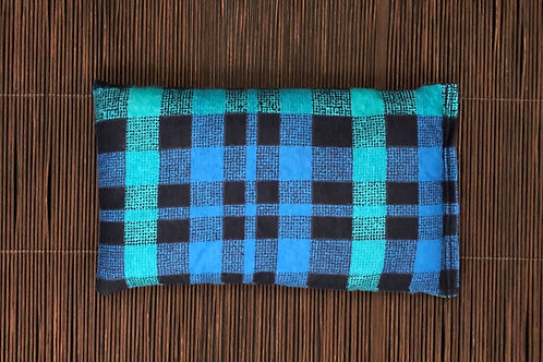Soothing Heat Pad -Flannel - Rice and Flaxseed- Jade Blue