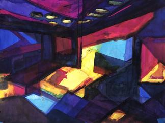 Nonobjective Art Interior