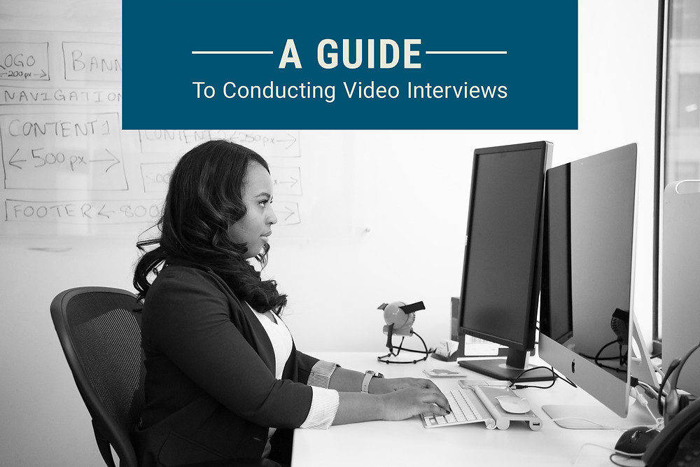 Person conducting video interview