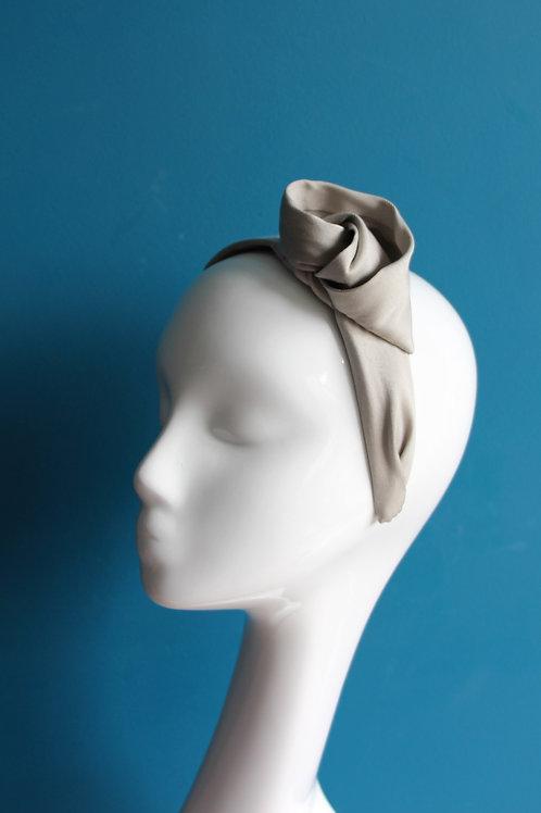 Turban serre-tête - gris perle