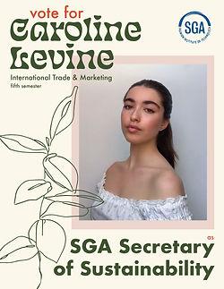 caroline campaign 2-02 - CAROLINE LEVINE
