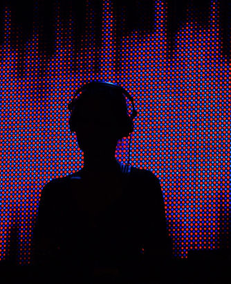 DJ mit Halbton Hintergrund
