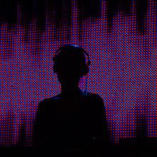 DJ with Halftone Background