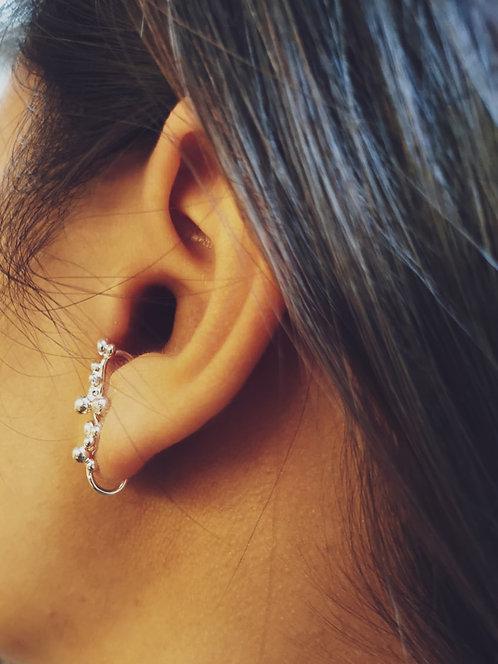 Barres d'oreilles bulles argent925