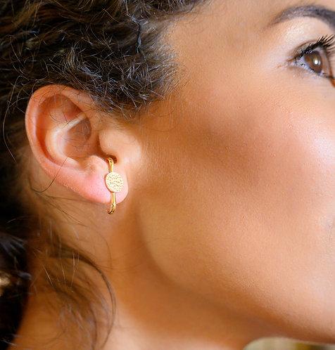 Barres d'oreilles duo laiton doré