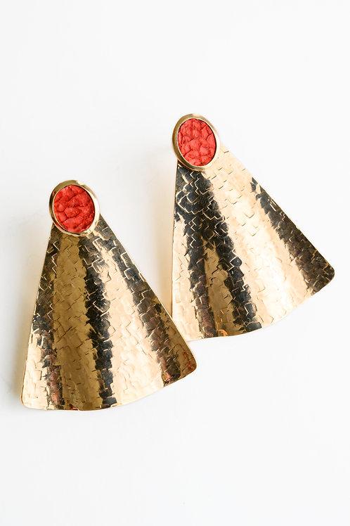 Boucles Ondine rouge