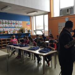 Tournage à l'école de la Nouvelle-Cadie