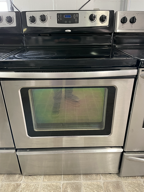 Stainless Electric Glass Top Range