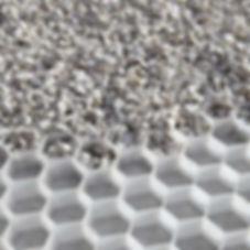 stabilisateur de graviers nid d'abeille