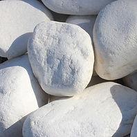 galet roulé bolo marbre blanc pur