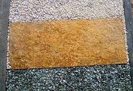 dalle brasilia marron  pierre naturelle elne france jardin extérieur