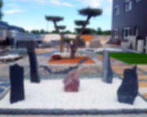 jardin Marchand de graviers decoration extérieure  graviers décoratif elne france pierre a muret cactus pelouse synthétique pas japonais dalle ardoise séparateur