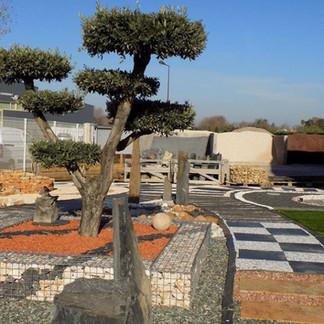 marchand de graviers aménagement extérieur jardin graviers décoratif pelouse synthétique
