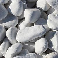 galets roulés bolo marbre blanc pur