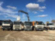 camion Le marchand de graviers, livraison de sables et graviers décoratif pelouse synthétique gabion bigbag