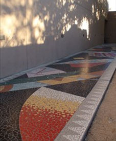 The Walkway located at the Albuquerque Museum of Art by Beverley Magennis