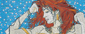 Red Head mosaic by Kyle Ray
