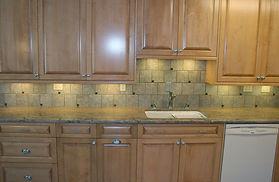 Kitchen backsplash by ABQ Art Glass
