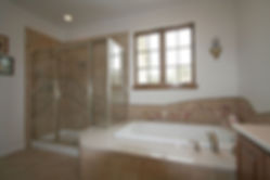 Seashell mosaic tile bathroomby ABQ Art Glass