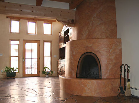 Faux Fireplace by ABQ Art Glass