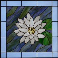 Lily Flower stained glass by ABQ Art Glass