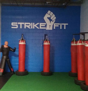 Strike Fit Gym logo by ABQ Art Glass