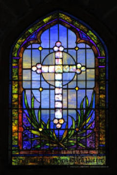 Good Shepherd Mission stained glass restoration by ABQ Art Glass