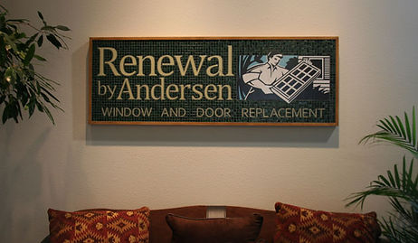 Glass mosaic signage for Renewal by Anderson by ABQ Art Glass