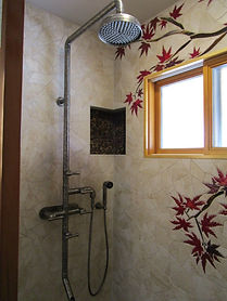 Maple Tree Shower by ABQ Art Glass